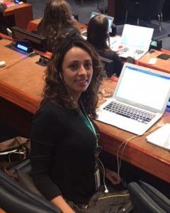 Vanesa Treers, SI UN Representative, at CSocD 56