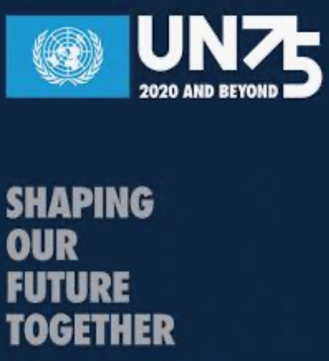 UN75 Shaping our Futures Together logo