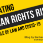 Title page reading Mitigating Human Rights Risks: The Rule of Law and Covid-19